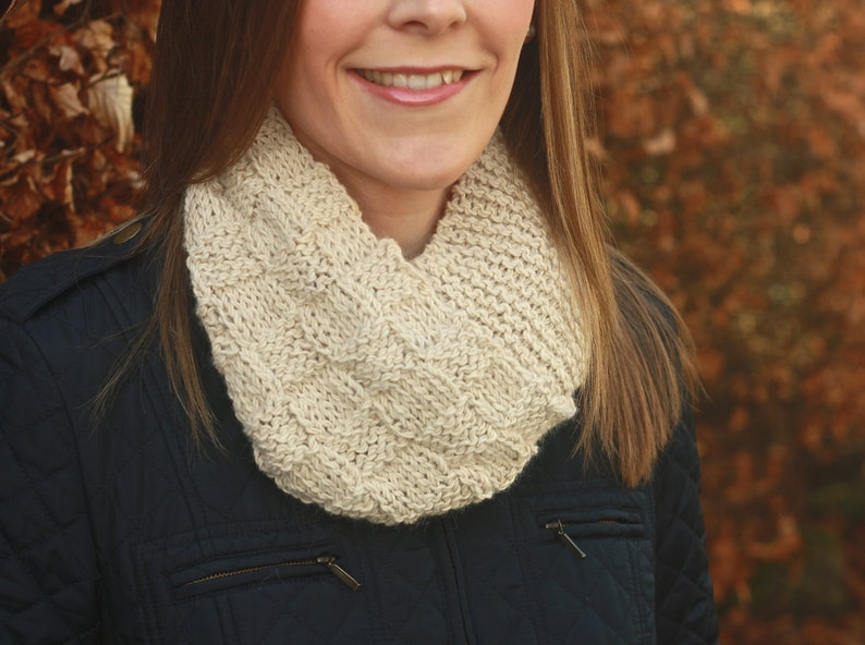 KNITTING PATTERN  Corrie Infinity Scarf Double Length Cowl image 0