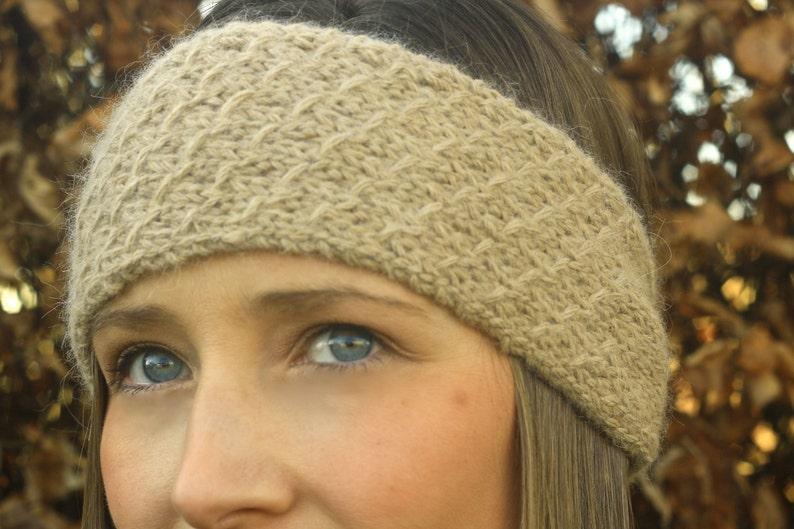 KNITTING PATTERN  Honeycomb Headband Ear warmer image 0