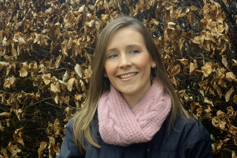 KNITTING PATTERN  Islay Infinity Scarf Double Length Cowl image 0