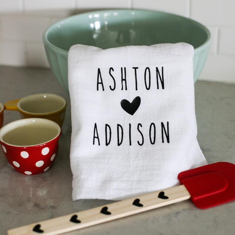 Valentine's Personalized Tea Towels image 0