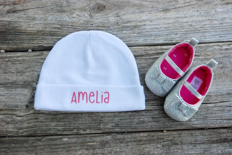 Personalized Baby Girl Hat image 0
