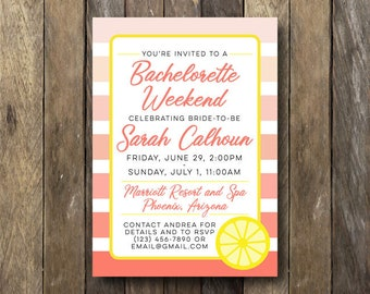 Bachelorette Weekend Invite - Printable Bachelorette Party Invite - Bridal Shower Invitation - Bachelorette Weekend Invitation