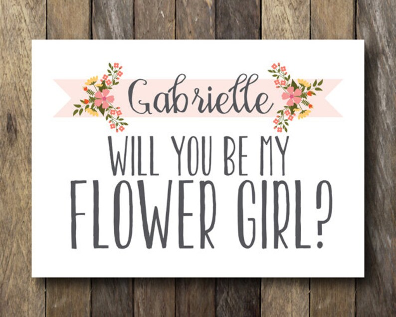 photograph regarding Printable Bridesmaid Cards identified as Will oneself be my Flower Lady Card - Printable Bridesmaid Playing cards - Be my Flower Woman - Tailored Bridesmaid Card - Printable Flower Female Card