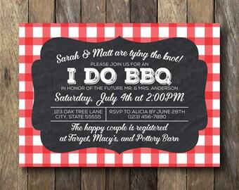 I Do BBQ Invitation - Printable Shower Invite - Engagement Party Invitation - I Do BBQ Engagement Party - Printable Invitation - I Do BBQ