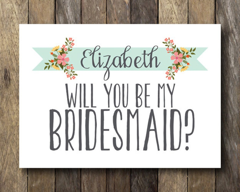 picture regarding Printable Bridesmaid Cards named Bridesmaid Question Card - Printable Be My Bridesmaid Playing cards - Will Oneself Be My Bridesmaid? Card - Inquiring Bridesmaid Card - Maid of Honor Proposals