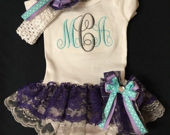 Newborn Baby Girl Clothes Baby Girl Oufit Baby Girl Monogrammed Baby Girl Coming Home Outfit Baby Girl Monogram Baby Girl tutu