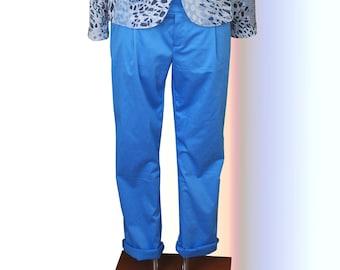 Chino Trousers Blue Ladies, Portobello. UK 16-18, US 14-16