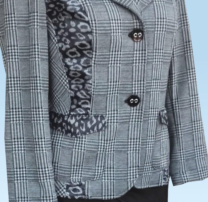 UK 14 US 12 Blazer Br\u00fcssel with Leoprint Blouse jacket