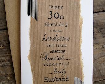30th boyfriend card etsy