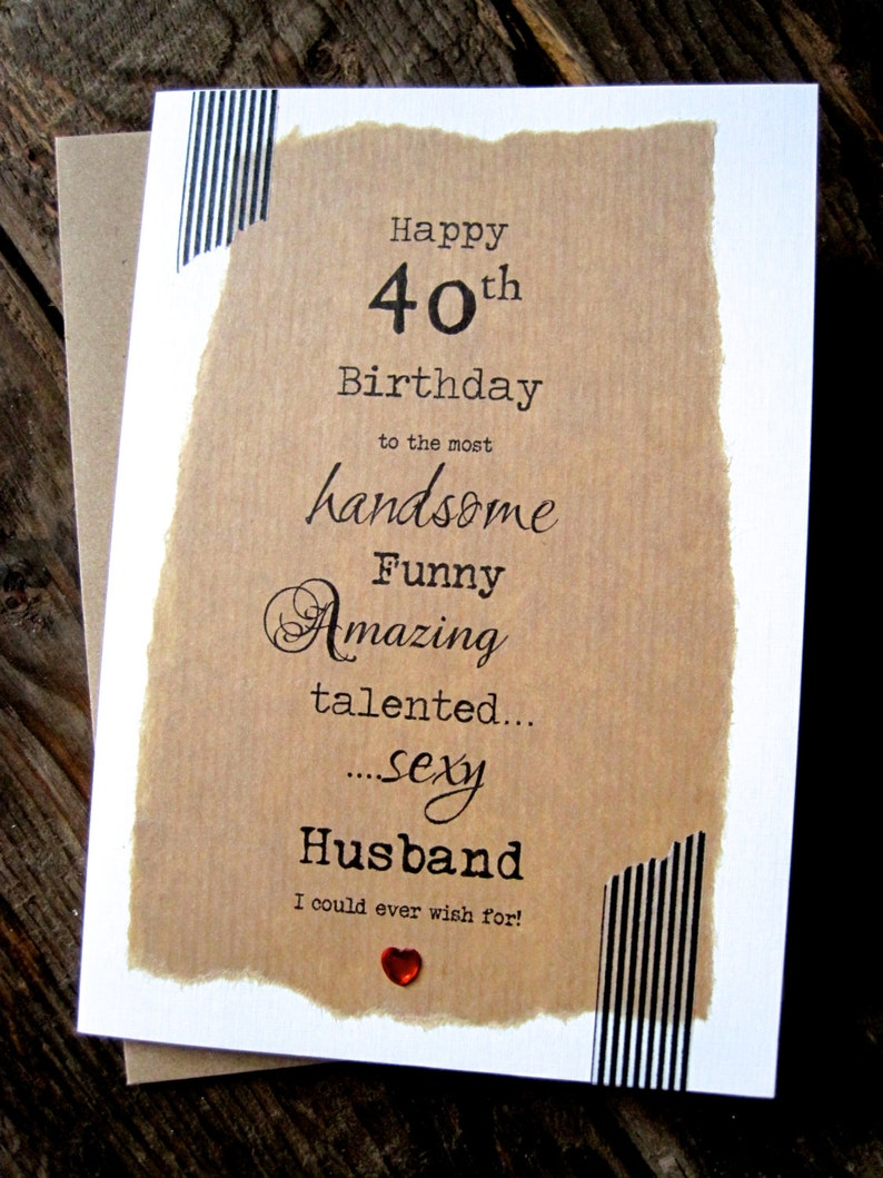 Larger 30th 40th 50th Birthday Card Husband Handsome FUNNY