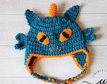 Dragon Crochet Hat Boys Dragon Hat Crochet Earflaps Dragon Hat