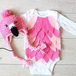 Baby Flamingo Costume Baby Flamingo Bodysuit and Crochet Flamingo Hat