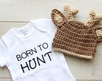 Hirsch Hut Häkeln Reh Hut Baby Tier Outfit Outdoor Baby Mütze Etsy