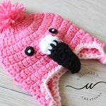 Baby Flamingo Crochet Hat Pink Flamingo Winter Hat