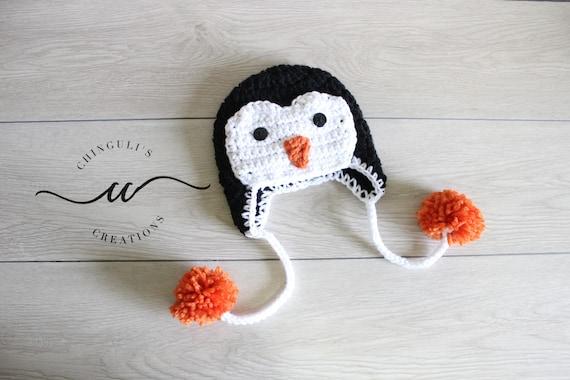 Häkeln Sie Penguin Beanie Baby Pinguin Hut Häkeln Baby Pinguin Etsy
