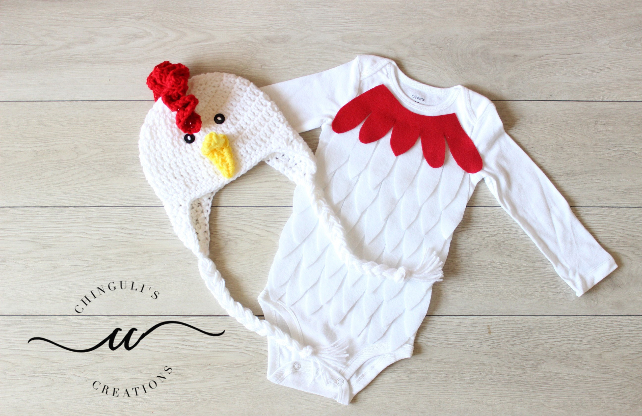 Baby Rooster Costume Baby Rooster Bodysuit And Crochet Rooster Etsy
