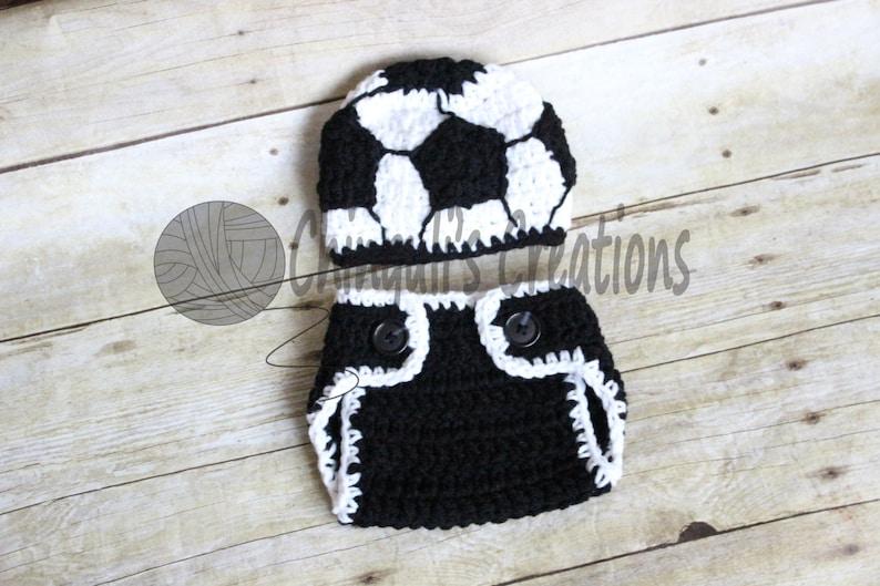 beb4b340998 Soccer Boy s Crochet Beanie Hat Crochet Soccer Hat and