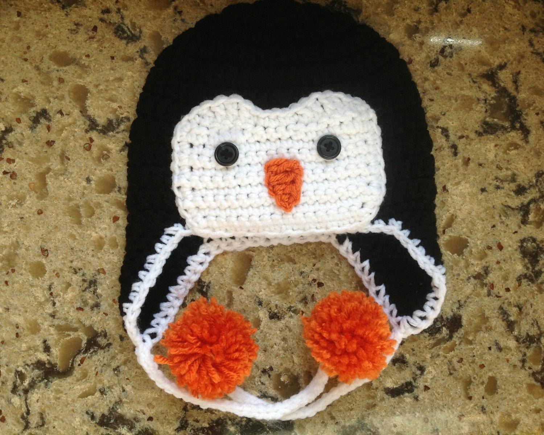 Crochet Penguin Beanie Baby Penguin Hat Crochet Newborn Etsy