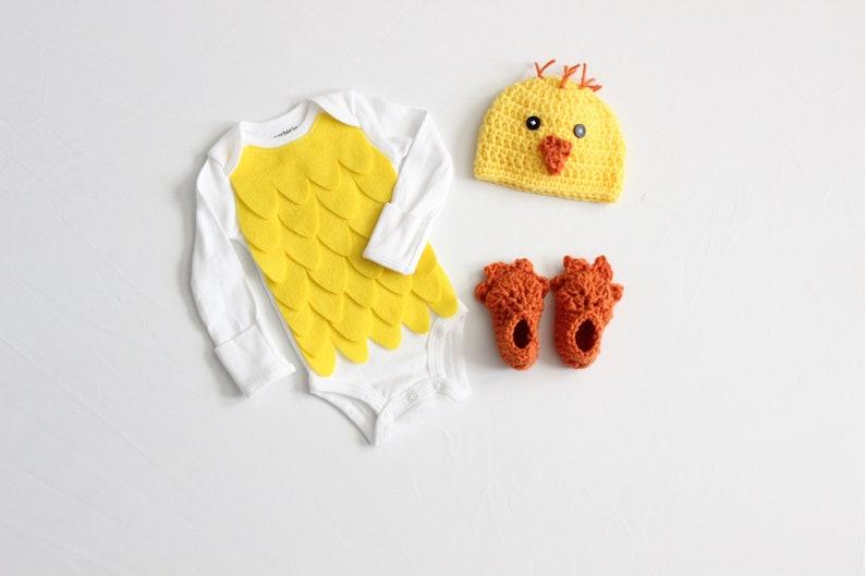 Baby Chicken Halloween Costume Yellow Little Chick Bodysuit image 0