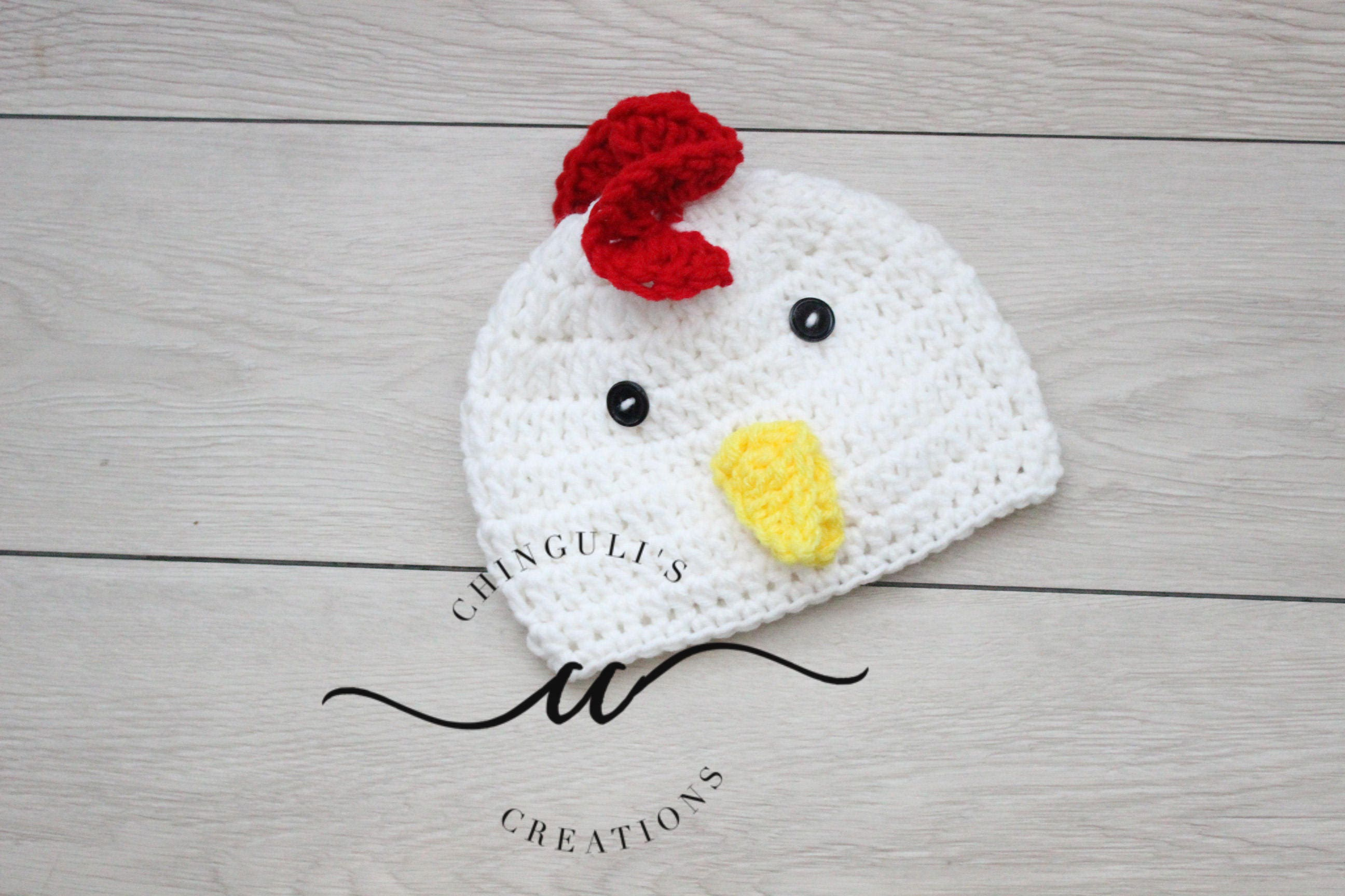 Crochet Rooster Hat Baby White Rooster Hat Baby Crochet Etsy