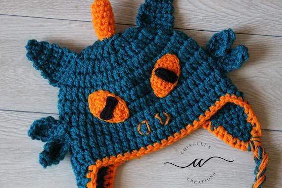 Drachen häkeln Hut jungen Drachen Hut häkeln Ohrenklappen   Etsy