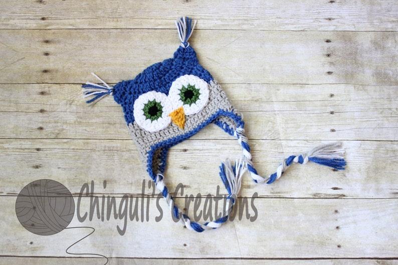 635f40a8bb3 Crochet Owl Hat Owl Beanie Owl Hat Boys Girls Owl hat Newborn