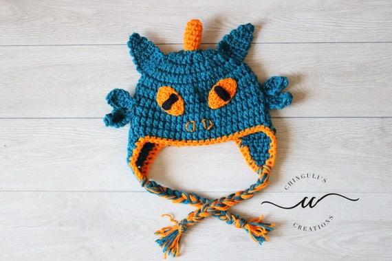 Drachen häkeln Hut jungen Drachen Hut häkeln Ohrenklappen