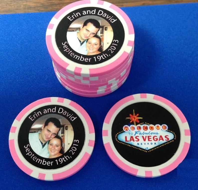 Wedding Favor Poker Chips 100 Personalized Poker Chips Etsy