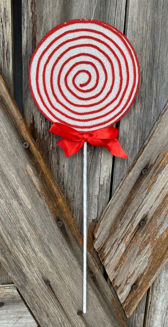 Red White Corded Lollipop