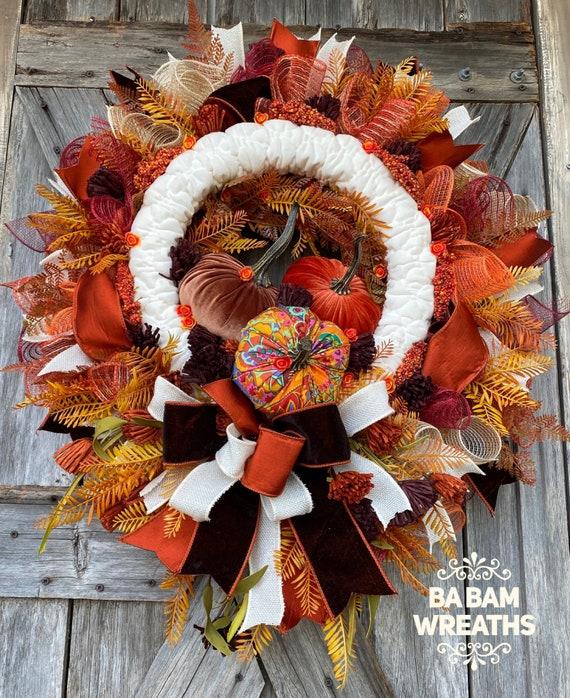 Fall Wreath, Fall Swag, Autumn Swag, Autumn Wreath, Rustic Fall Wreath, Thanksgiving Wreath, XL Fall Wreath