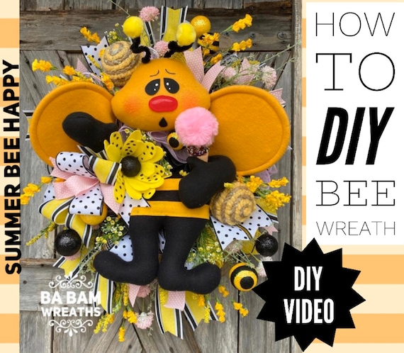 How To Video, How To Wreath, Wreath Tutorial, Summer Wreath, Mesh Wreath