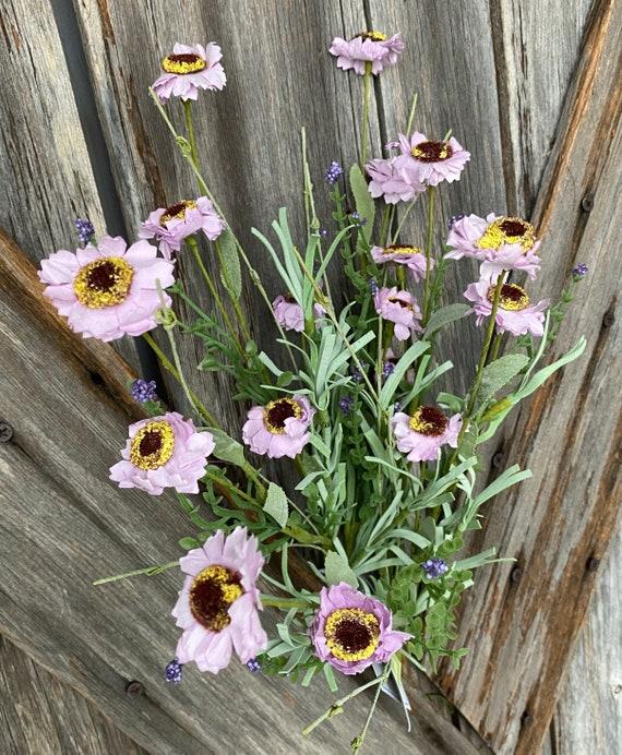 Lavender Button Aster Bush, Wreath Supply, Floral