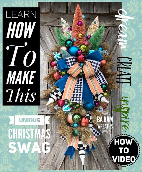 How To Video, How To Wreath, Wreath Tutorial, Christmas Wreath, Christmas Swag, Holiday Wreath