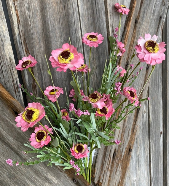 Pink Button Aster Bush, Wreath Supply, Floral
