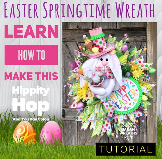 How To Video, How To Wreath, Wreath Tutorial, Easter Wreath, Mesh Wreath, Spring Mesh