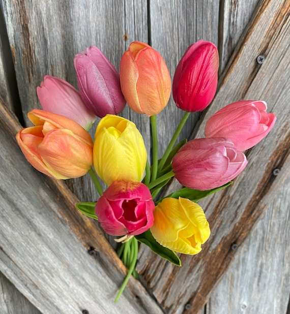 Real Touch Multi Color Tulip Bundle