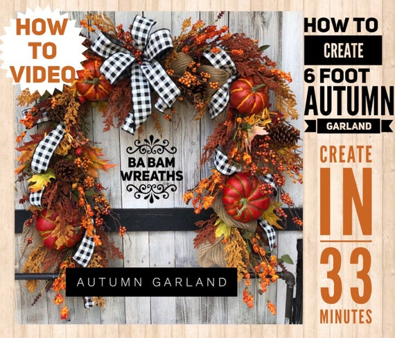 How To Video, How To Wreath, Wreath Tutorial, Autumn Wreath, Autumn Garland, Fall Wreath, Fall Garland