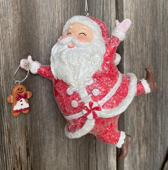 Red Dancing Santa Ornament