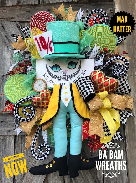 Mad Hatter, Everyday Wreath, Alice In Wonderland