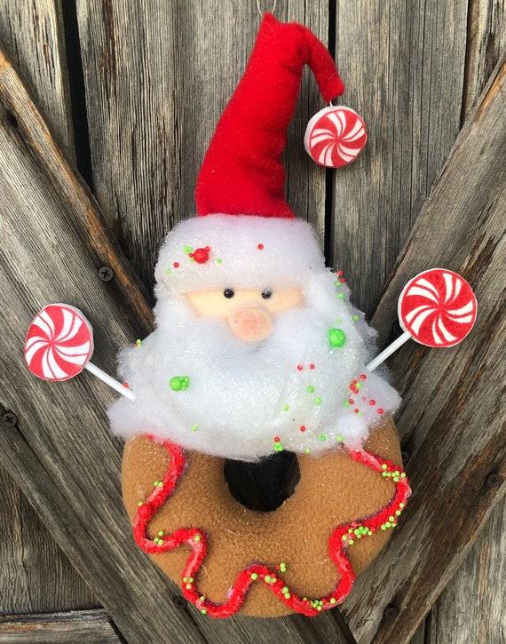 Santa Donut Ornament 10 inches