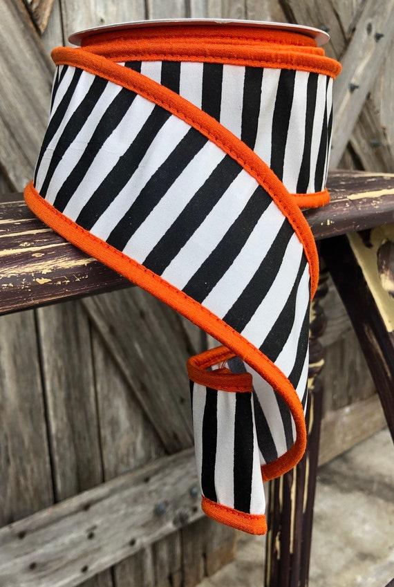 10 Yards, Halloween Stripe Ribbon