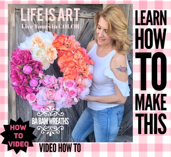 How To Video, How To Wreath, Wreath Tutorial, Grapevine Wreath, Spring Wreath, Summer Wreath