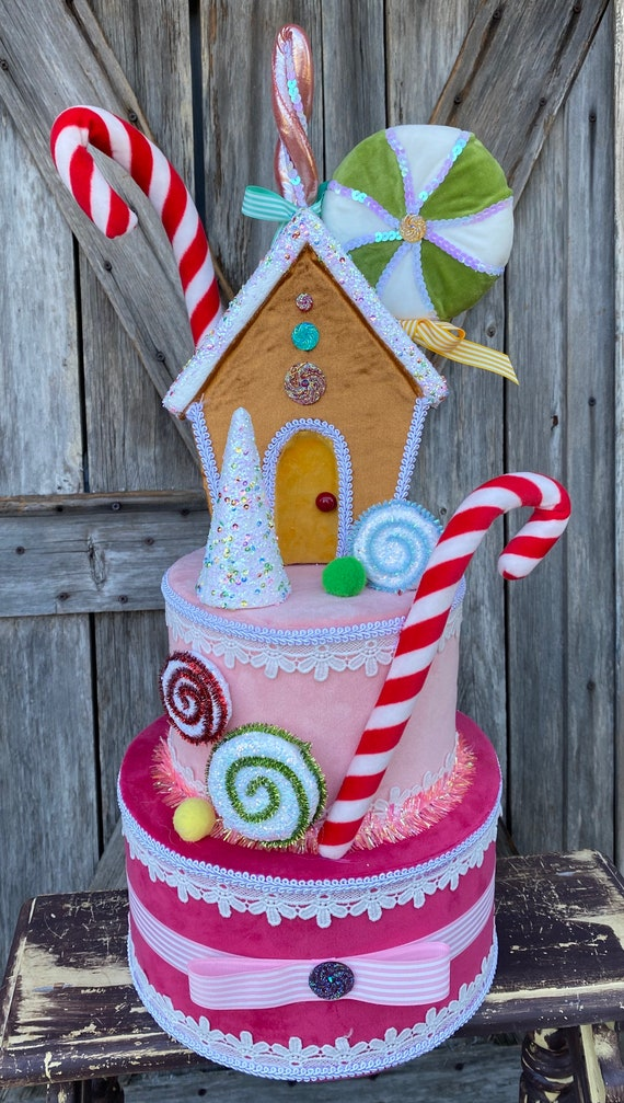 Sprinkle Candy House Cake Tree Topper