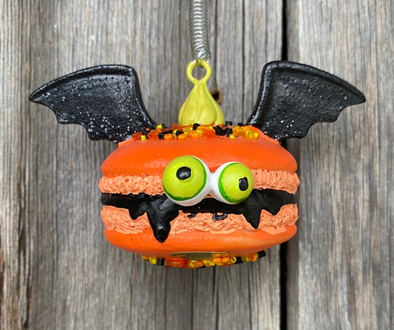 SWEET Batty Macaroon Ornament 4.25 inches