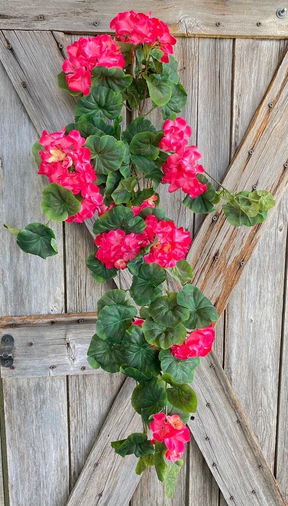 Hanging Pink Geranium Bundle, Wreath Supply