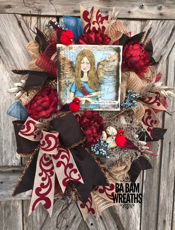 Everyday Wreath, Front Door Wreath, Modern Wreath, Gift for Her, Fall Wreath, Autumn Wreath