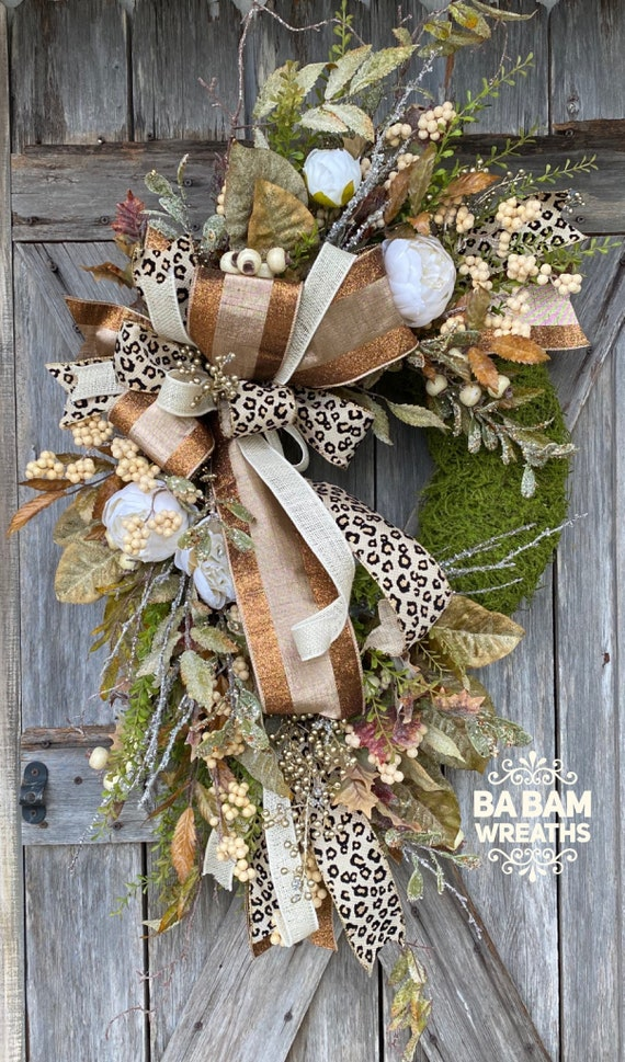 Fall Wreath, Fall Swag, Autumn Swag, Autumn Wreath, Rustic Fall Wreath, Halloween Wreath, XL Fall Wreath