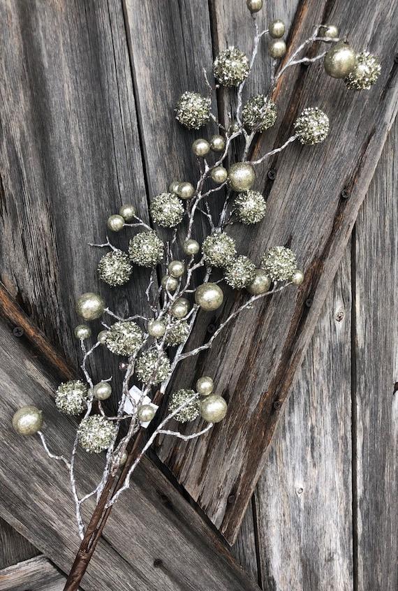 Wreath Supply, Platinum Berry Spray