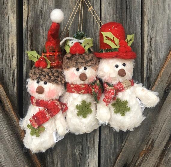 Set Of Three Snowmen