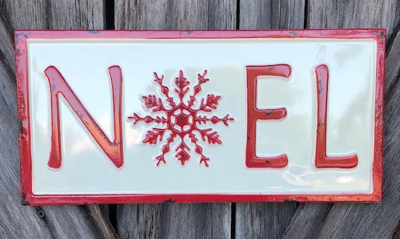Noel metal sign